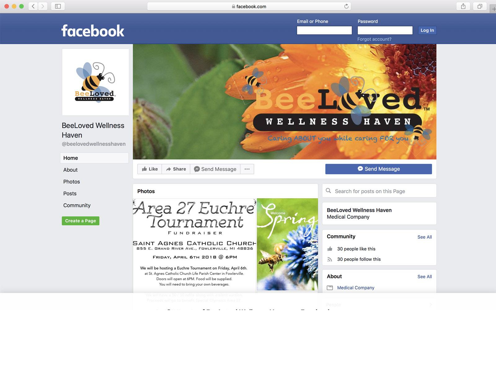 BeeLoved Facebook