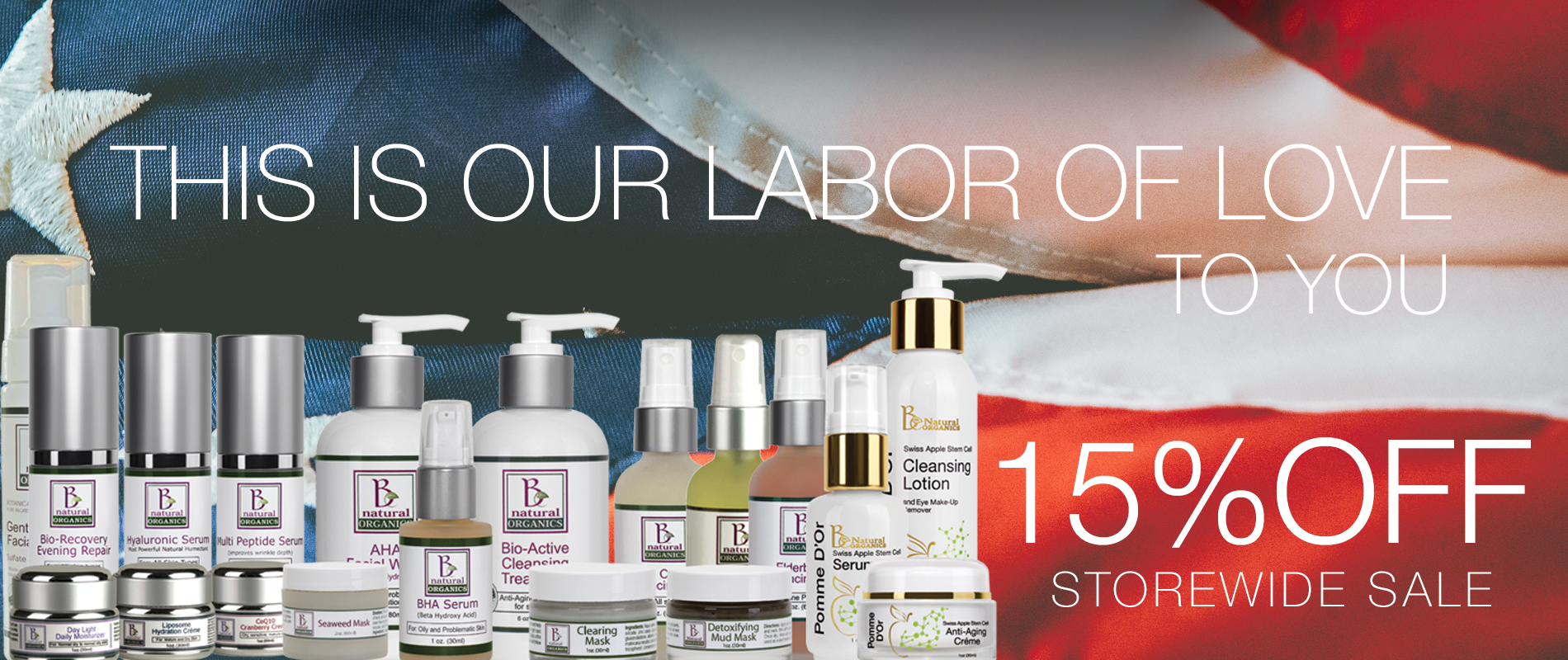 LABOR OF LOVE 15%OFF STORE slider