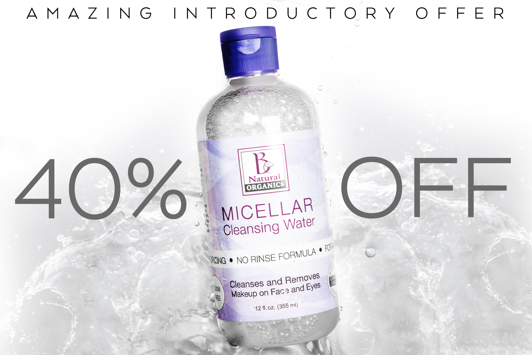 MICELLAR WATER 40%OFF vertical graphic